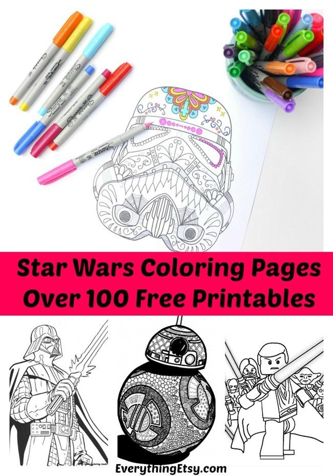 100 Star Wars Free Printable Coloring