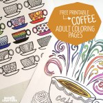Free Printable Coloring Pages for Adults: Coffee Cups!