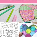 FREE Valentines Coloring Pages for Adults and Kids