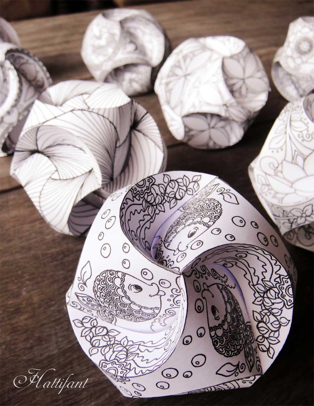 Transformative image for printable paper crafts for adults