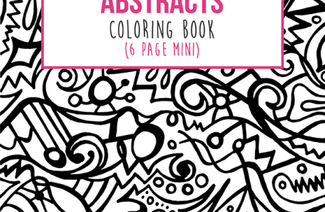 Amazing Abstracts Mini Coloring Book for Affordable Art