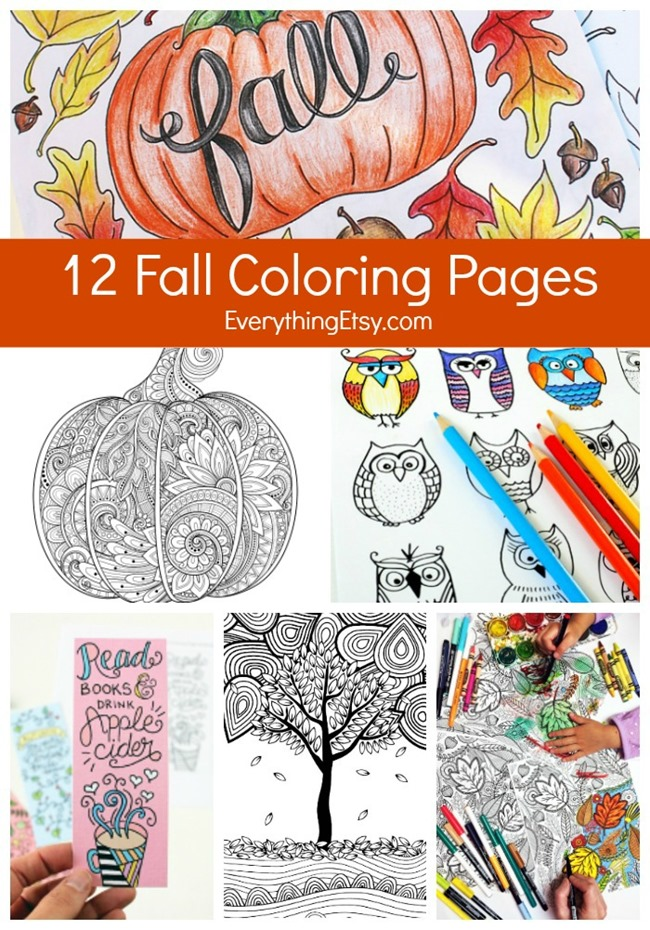 12 Free Fall Coloring Pages for
