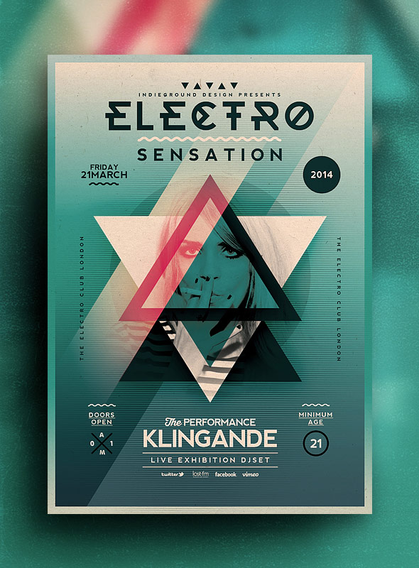 Electro Flyer Poster Vol7 - Indieground Design