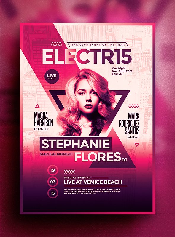 Electro Flyer Poster Vol9 - Indieground Design