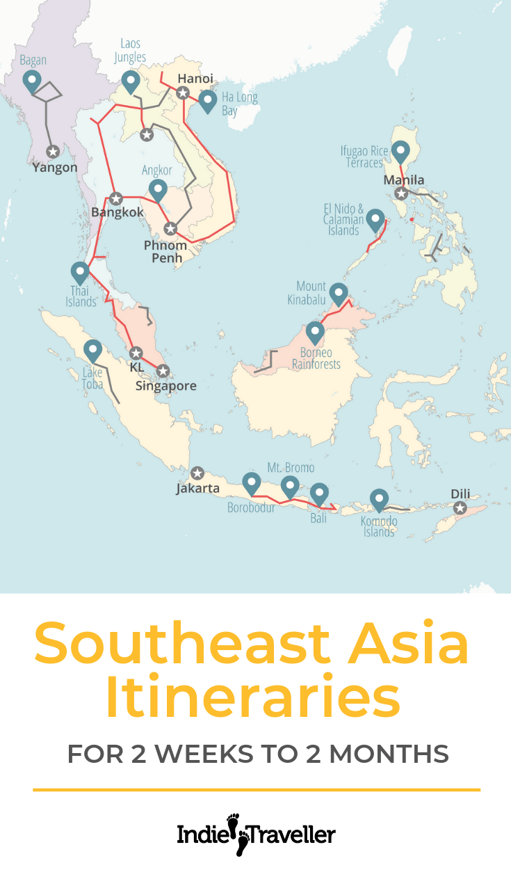 Go Via Trip Planner Southeast Asia Itineraries Backpacking Routes Ultimate