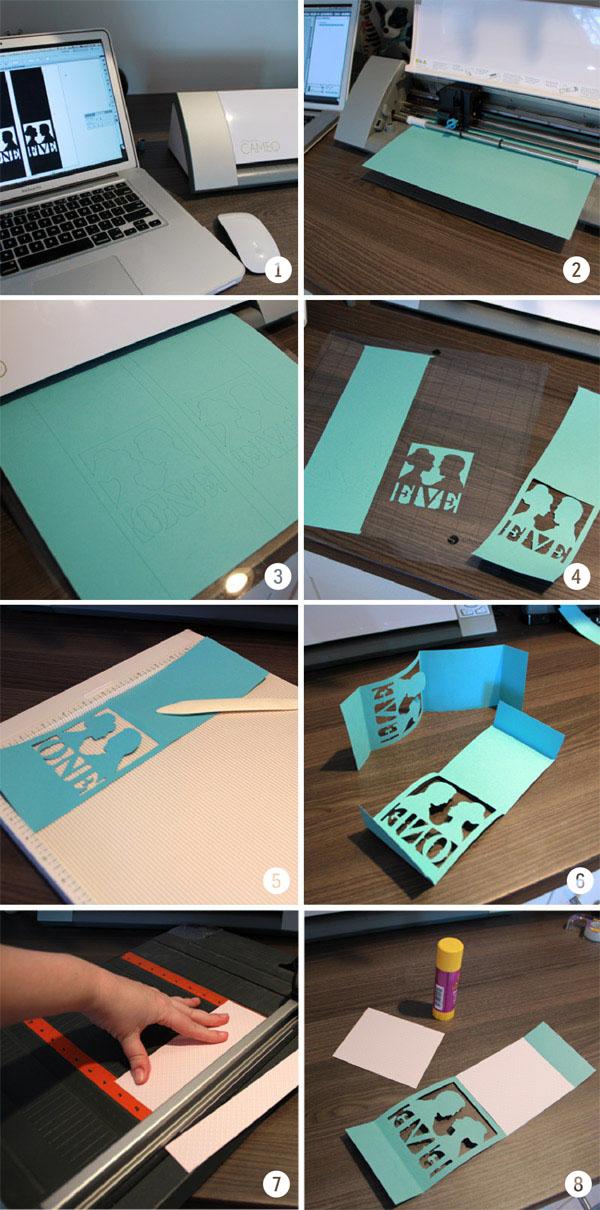 DIY Silhouette Table Numbers via Indie Wed blog
