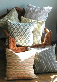 Indochine, designer pillows, home furnishings