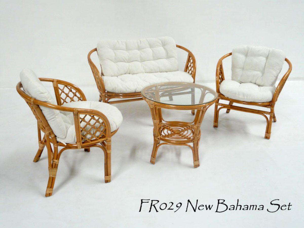 New Bahama Cane Living Set Indonesia Rattan Rattan Furniture Wholesale Wicker Furniture