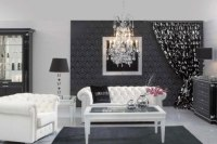 Black and white decor: Play contrast!  Indoor Lighting