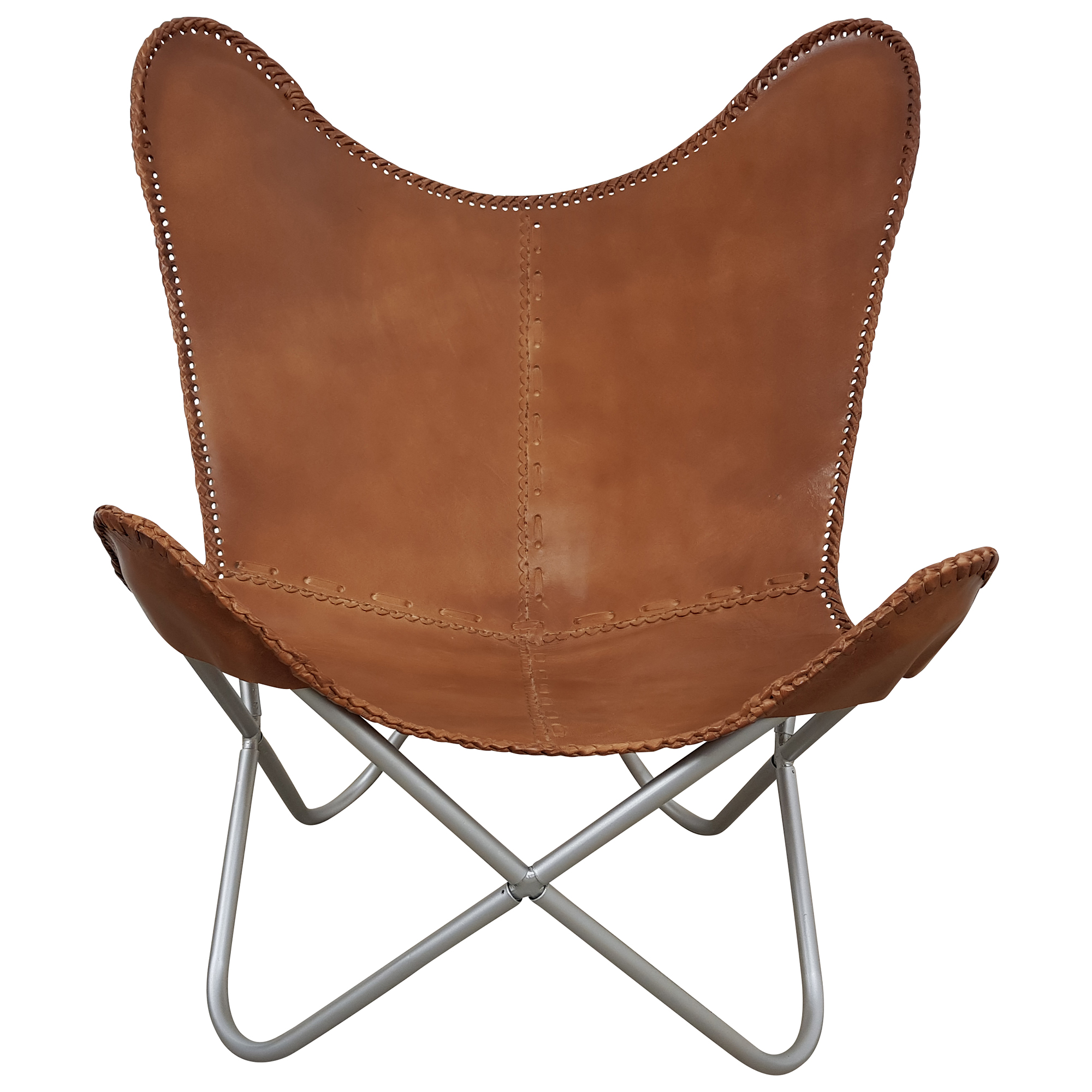 Chair Sessel Butterfly Chair Sessel Vintage Lounge Stuhl Echt Leder Braun Loungesessel