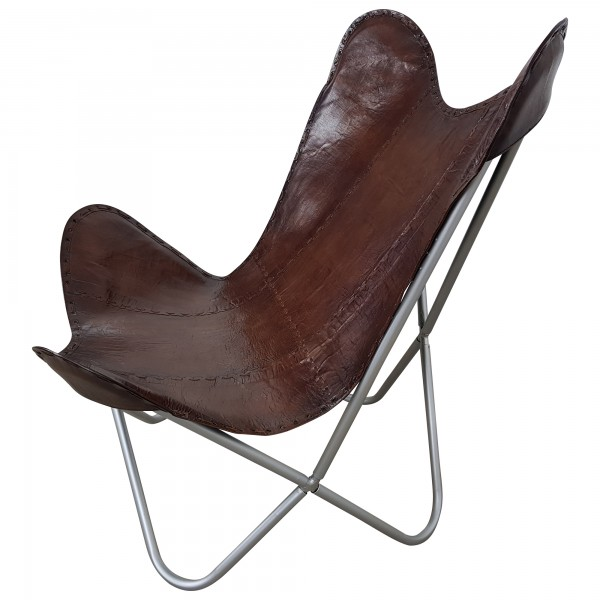 Lounge Sessel Echt Leder Butterfly Chair Design Sessel Lounge Stuhl Echt Leder