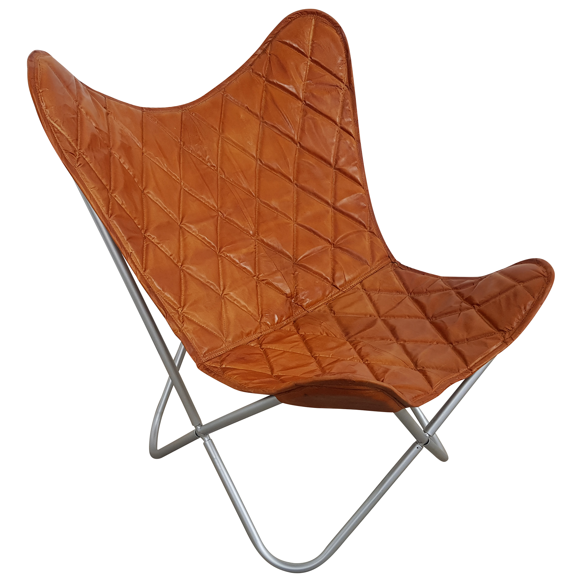 Lounge Sessel Retro Butterfly Chair Sessel Design Lounge Stuhl Leder Braun