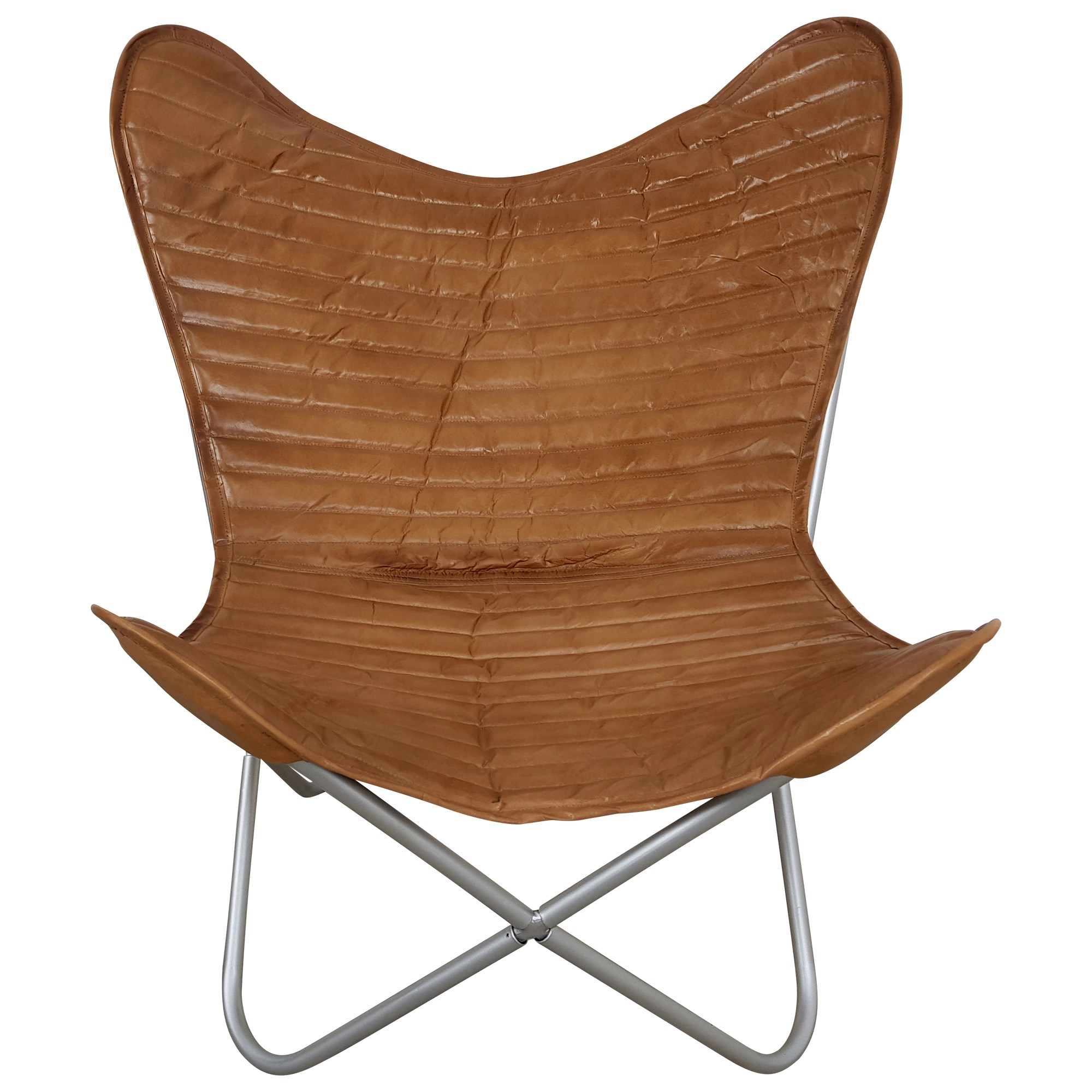 Lounge Sessel Retro Butterfly Chair Sessel Design Lounge Stuhl Echt Leder
