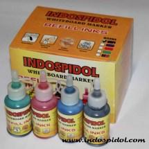 Tinta isi ulang refill spidol whiteboard marker 30ml Indospidol