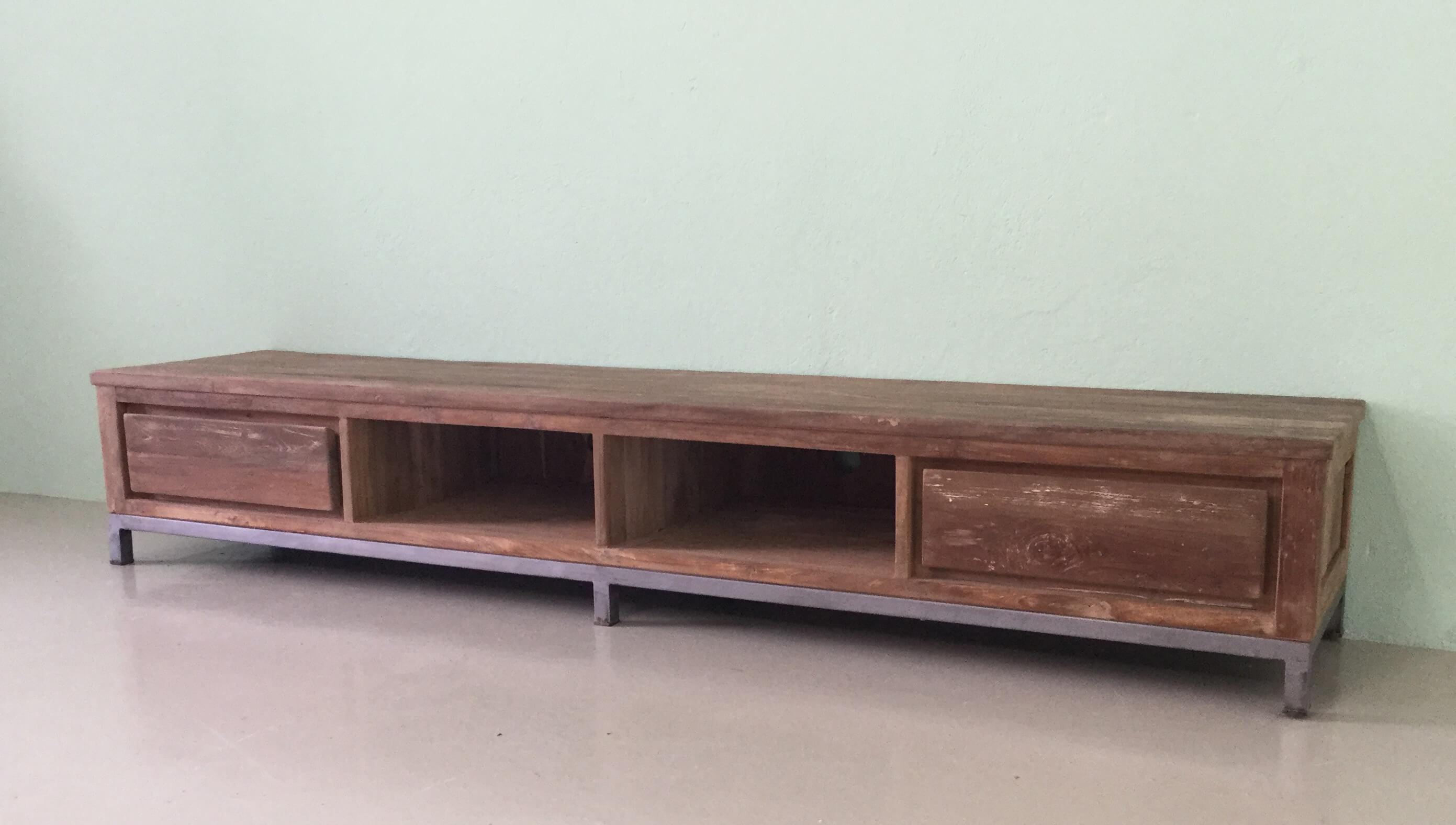 Tv Kast Industrieel : Meubel teak tv meubel metal teak collectie cabinet search items