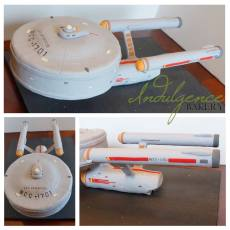 Star Trek Enterprise Wedding Cake