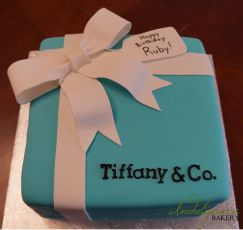Tiffany's Gift Box Cake