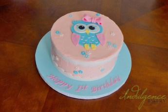 1st Birthday Owl Cake