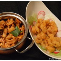 Calamari - 2 ways! : Spicy Sauteed and Chick Pea batter fried