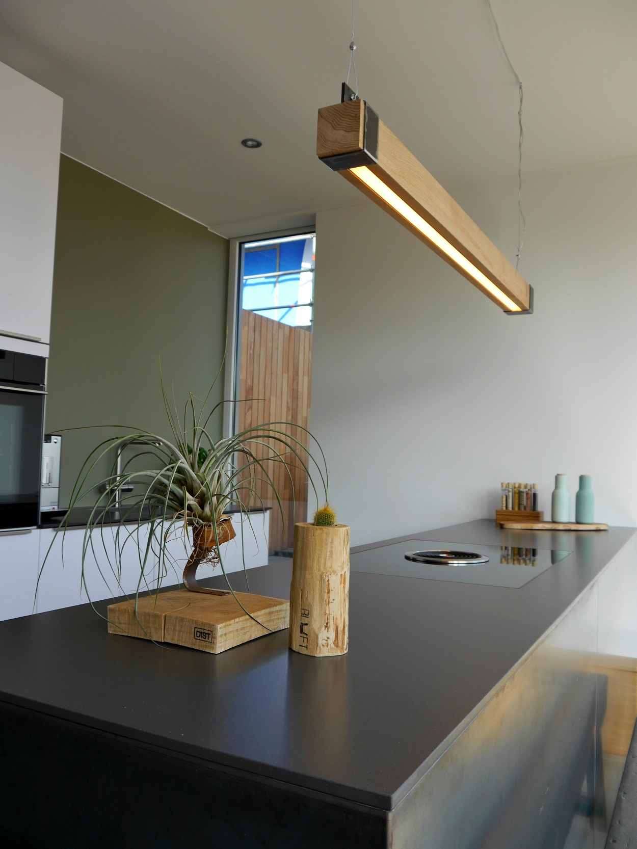 Hanglamp Led Design Houten Balklamp Woodlight New Indusigns