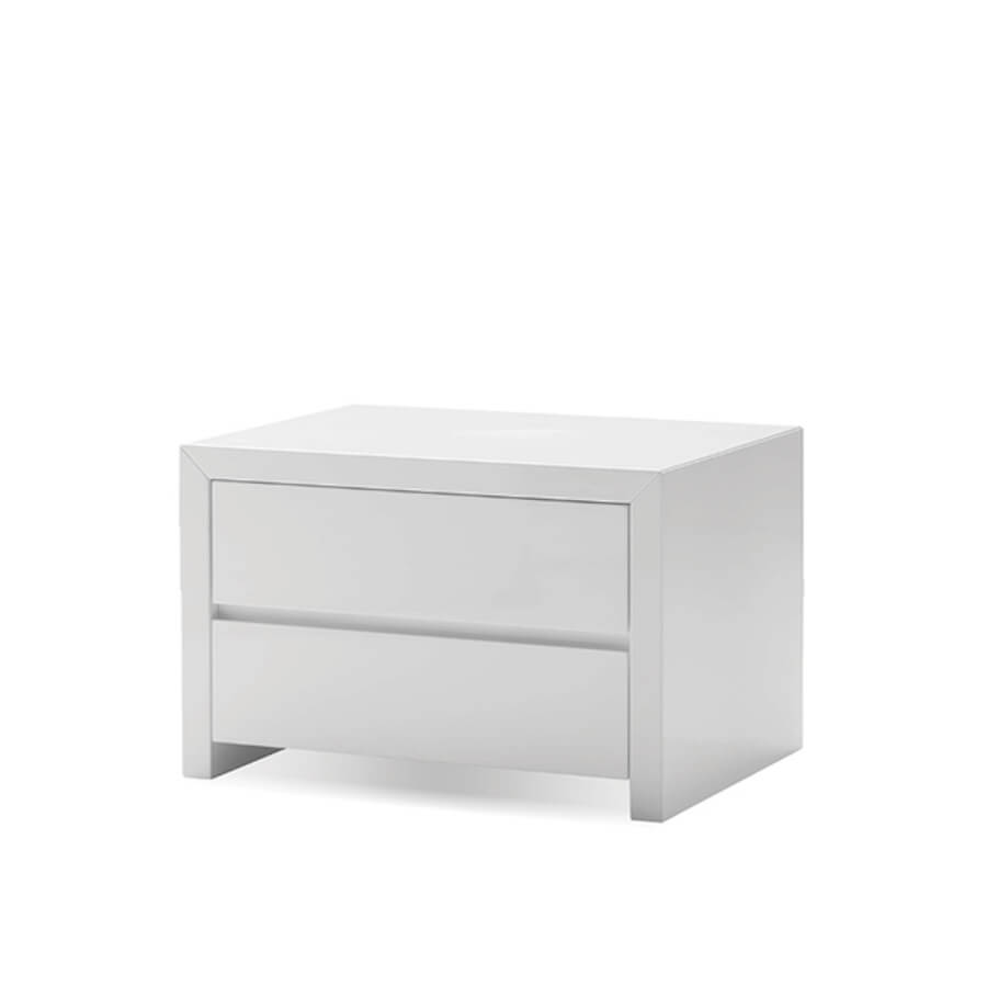 Table Blanche Blanche 2 Drawer Night Table