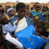 NetsforLife community workers provide nets and malaria education for a community in Angola.