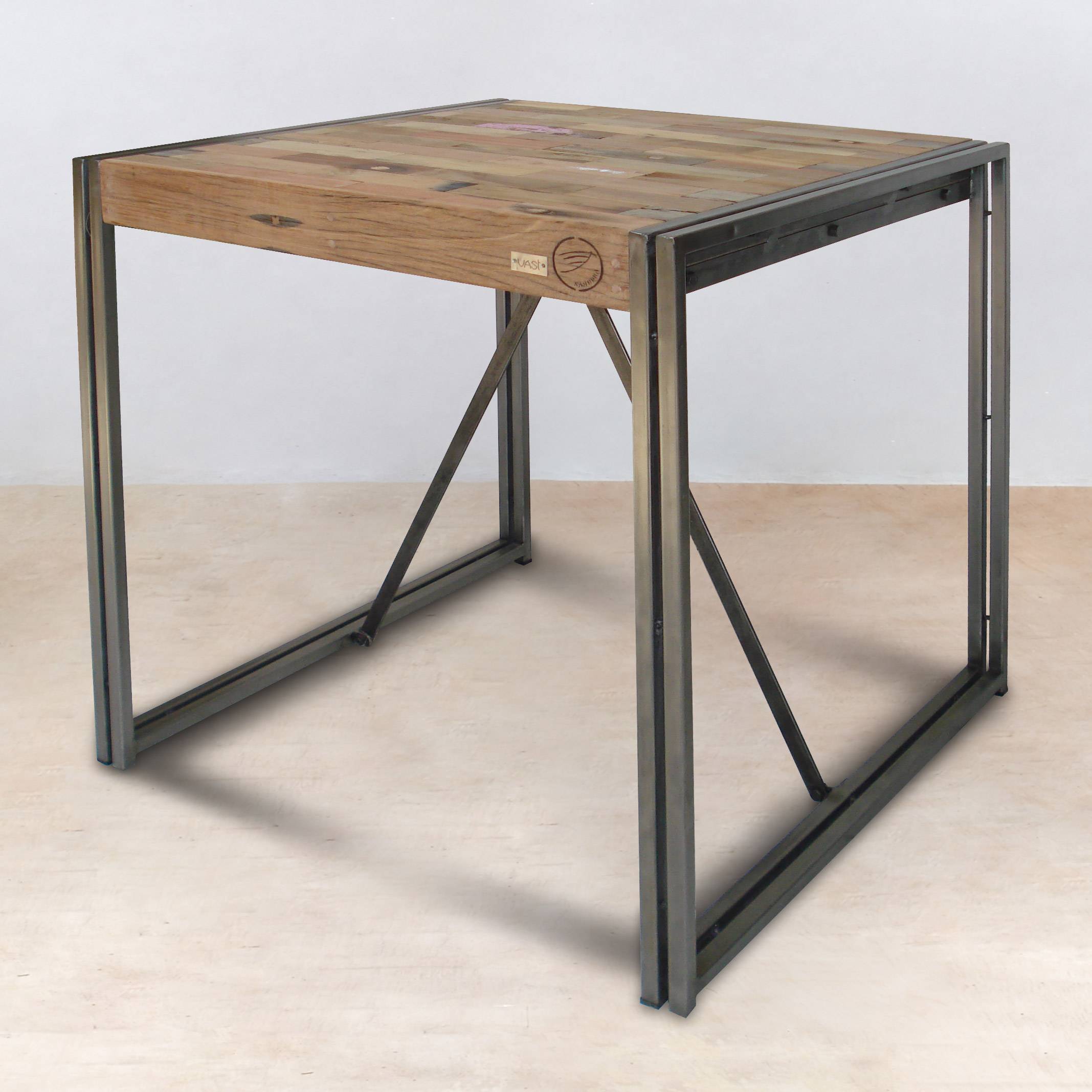Bureau 150x80 Table Mange Debout 100cm En Bois Recyclés Industryal
