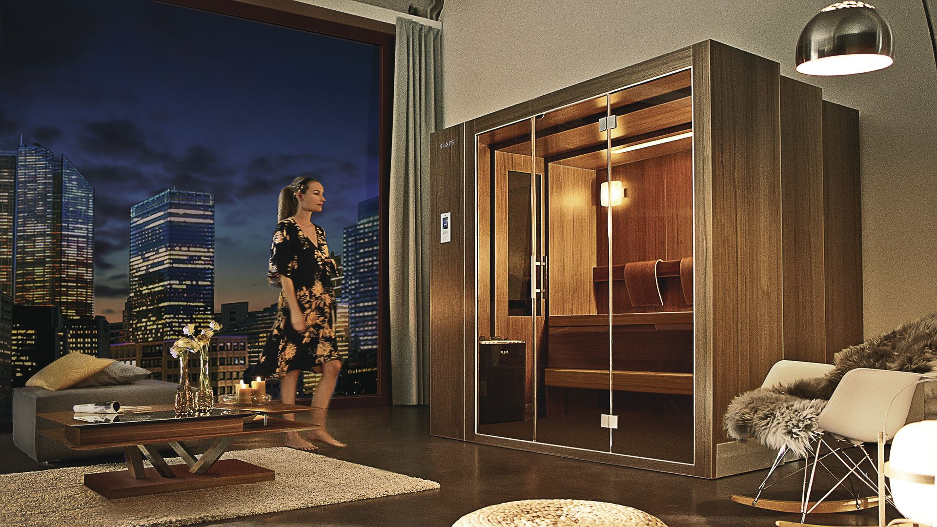 Klafs S1 Say What This Retractable Sauna Will Literally Extend Out Of Your
