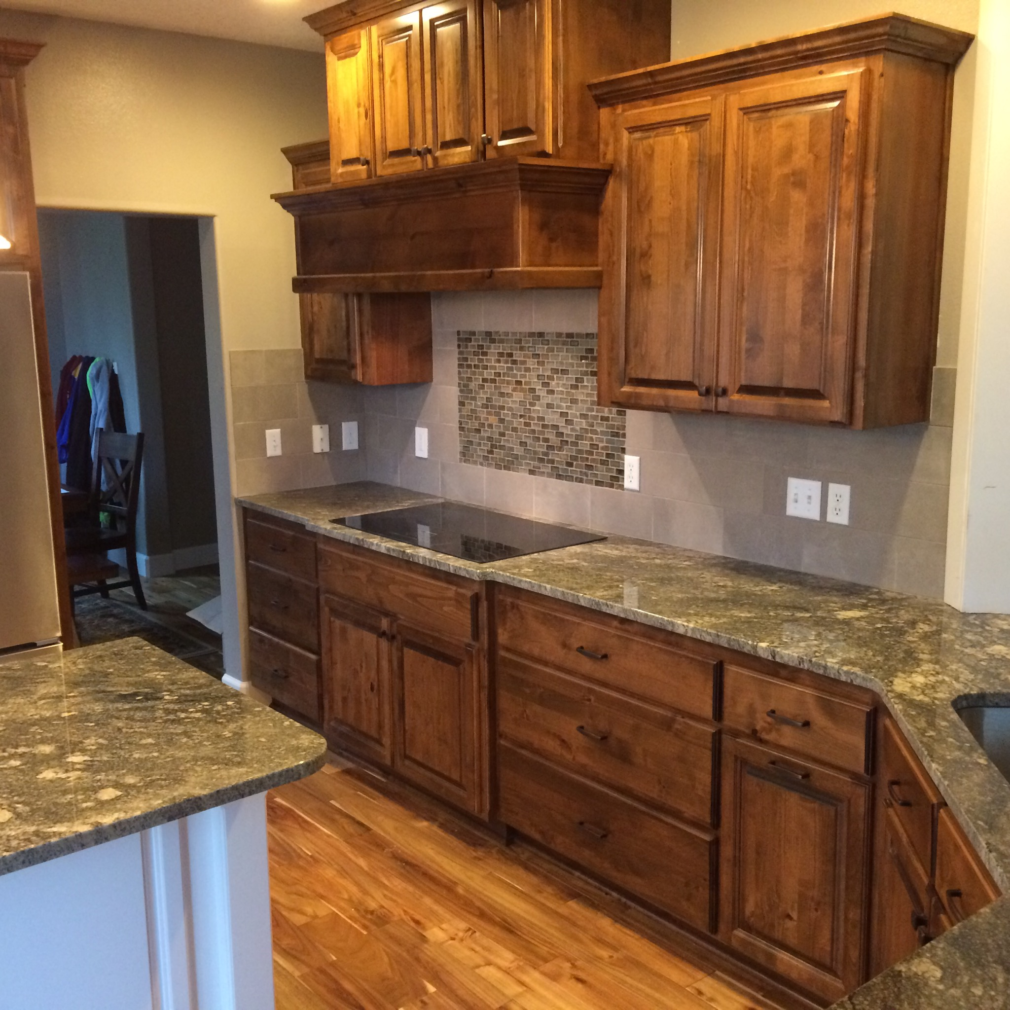 Kitchen Island Using Wall Cabinets Livingston Mt. Kitchen Remodel | Indy Construction, Llc