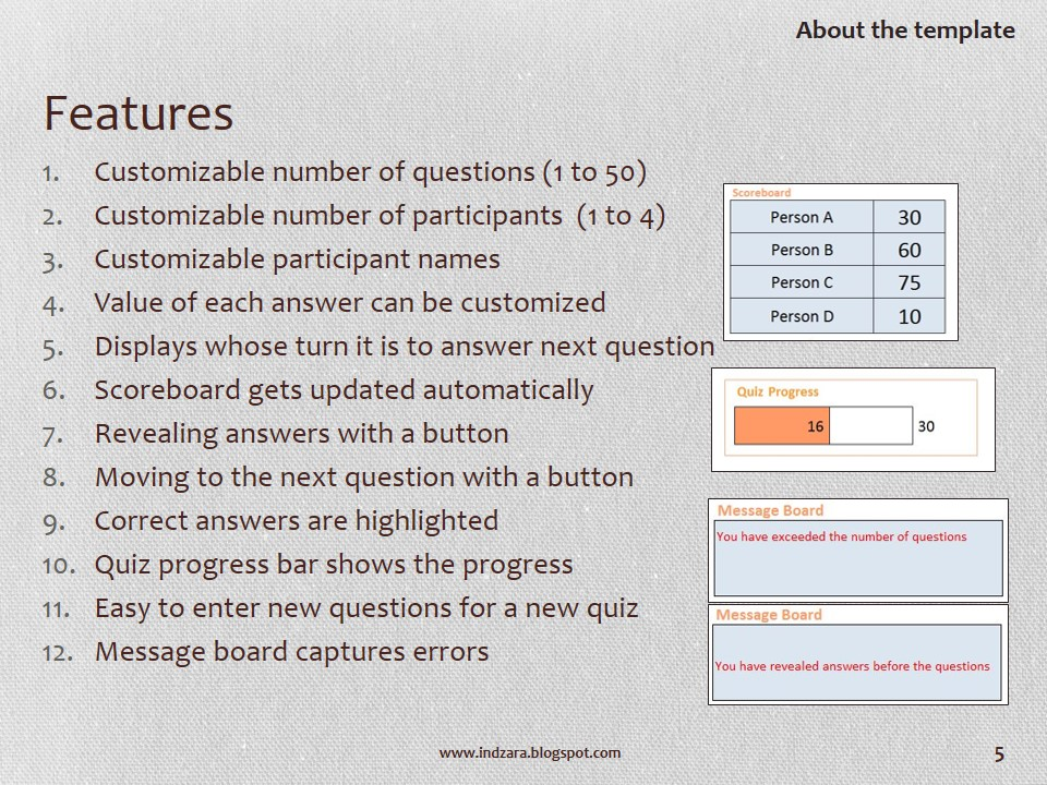 Quiz Master Excel Template to Conduct Quizzes - Free Download - free quiz template