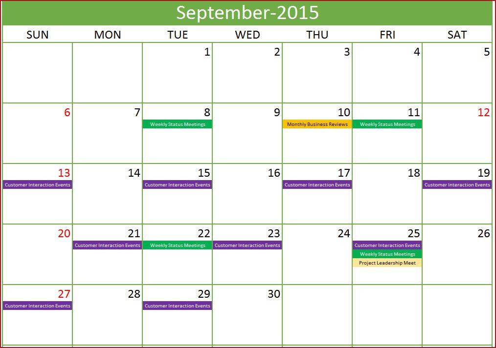 event schedule template excel - monthly schedule maker