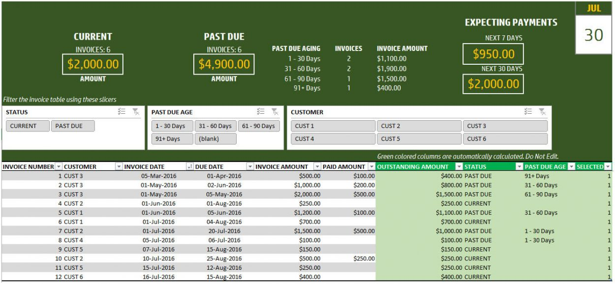 Invoice Tracker Template for Small Business - Free Spreadsheet