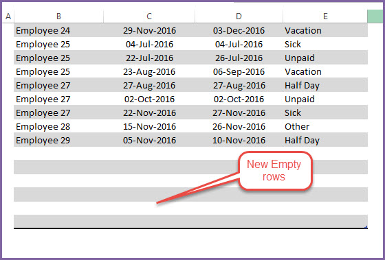 Employee Vacation Tracker to track leave  attendance - Excel Template