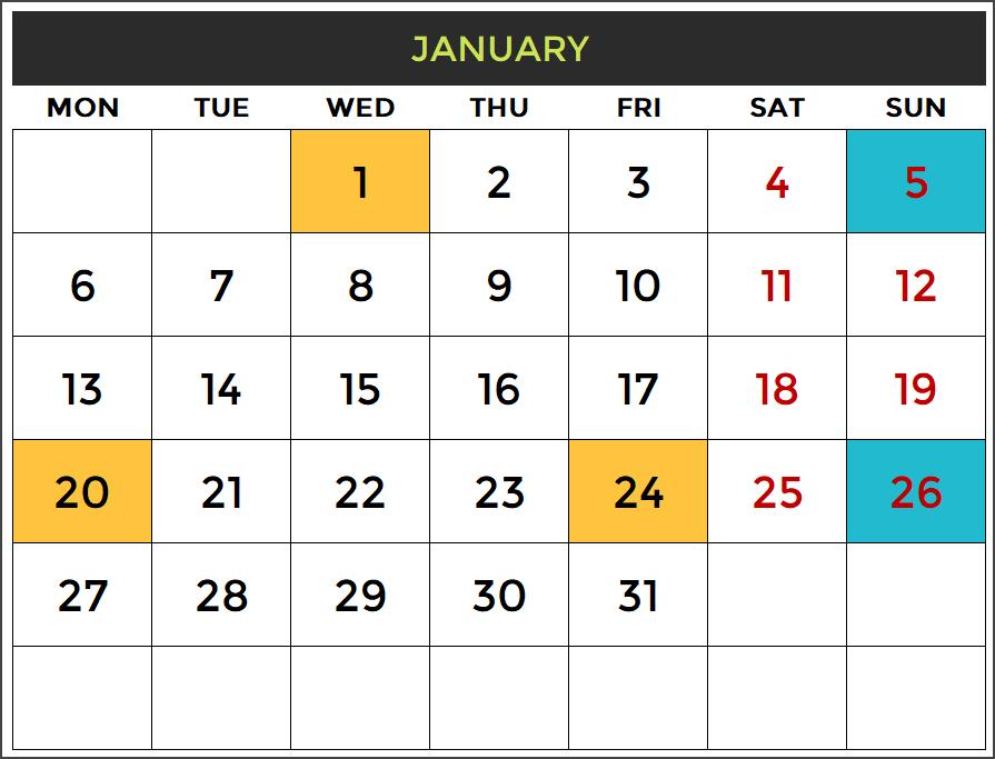free calendar template 2019 excel
