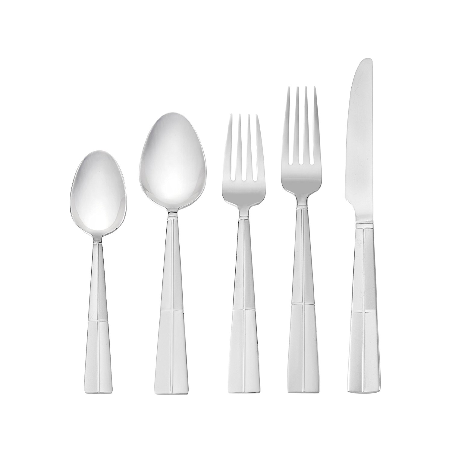 Best Deal On Silverware Arabesque Frost Stainless Steel Flatware 20 Piece Set