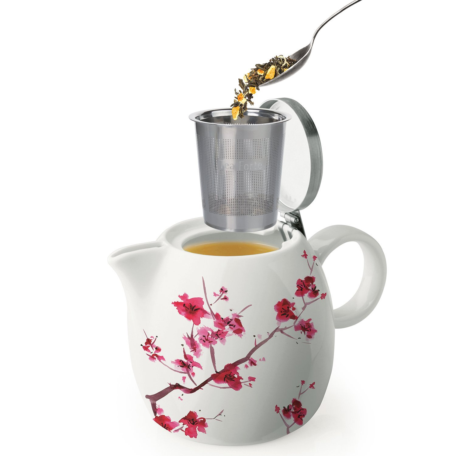 Ceramic Teapot With Infuser Tea Forte Pugg 24oz Ceramic Teapot With Improved Stainless