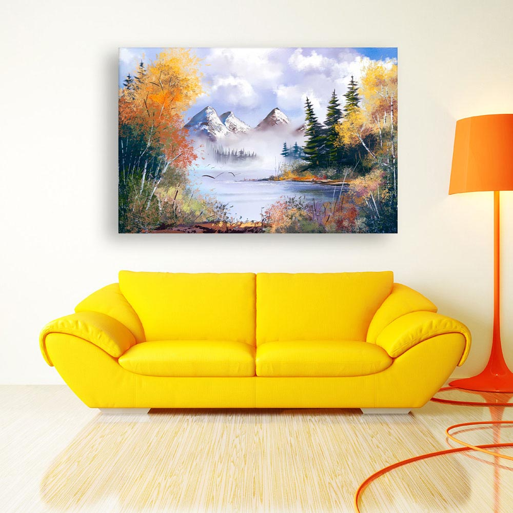 Living Room Paintings Canvas Painting Beautiful Nature Art Wall Painting For Living Room Bedroom Office Hotels Drawing Room 91cm X 61cm