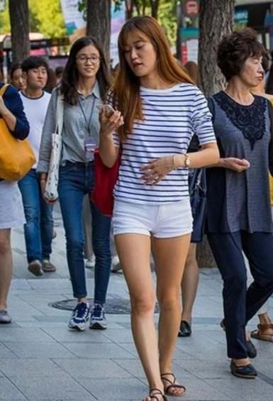 韓國街頭的女人實拍,韓劇里果然都是「騙人」的!