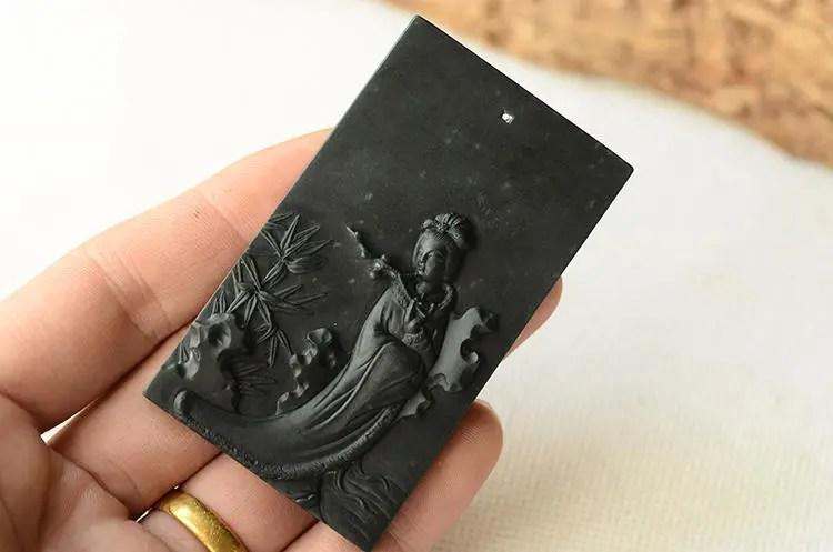 《踏雪尋梅》——墨翠雪花棉料雕刻作品欣賞