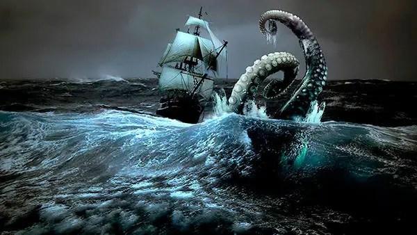 北歐神話中的巨大的海怪:北海巨妖