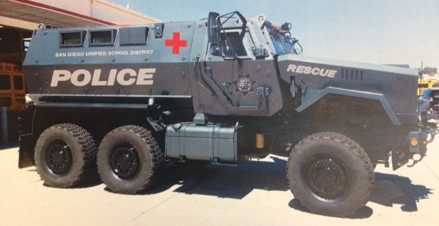 Why did San Diego Unified acquire an armored vehicle?