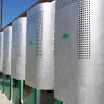 A bank of lithium ion batteries, installed by Green Charge Networks, feeds power into a Bay Area high school, shaving down its peak demand from PG&E. The Poway Unified School District plans to install similar banks – most of them 250 kilowatts – at 10 schools in early 2016. Photo courtesy of Green Charge Networks