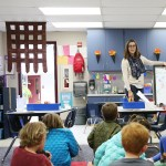 Student teacher Elisse Bevilacqua teaches a class inside a portable at Skyline Elementary in the Solana Beach School District. April 12, 2016. Megan Wood, inewsource
