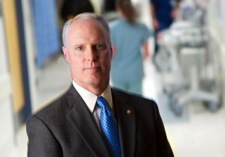 Hospital beds Chris Van Gorder, president and CEO of Scripps Health