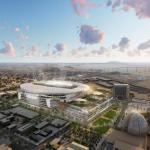 An undated illustration of a proposed Chargers stadium in downtown San Diego. Photo courtesy of MANICA Architecture.