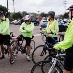 Senior members of the Knickerbikers prepare for their regular Saturday ride. May 13, 2017. Megan Wood/inewsource