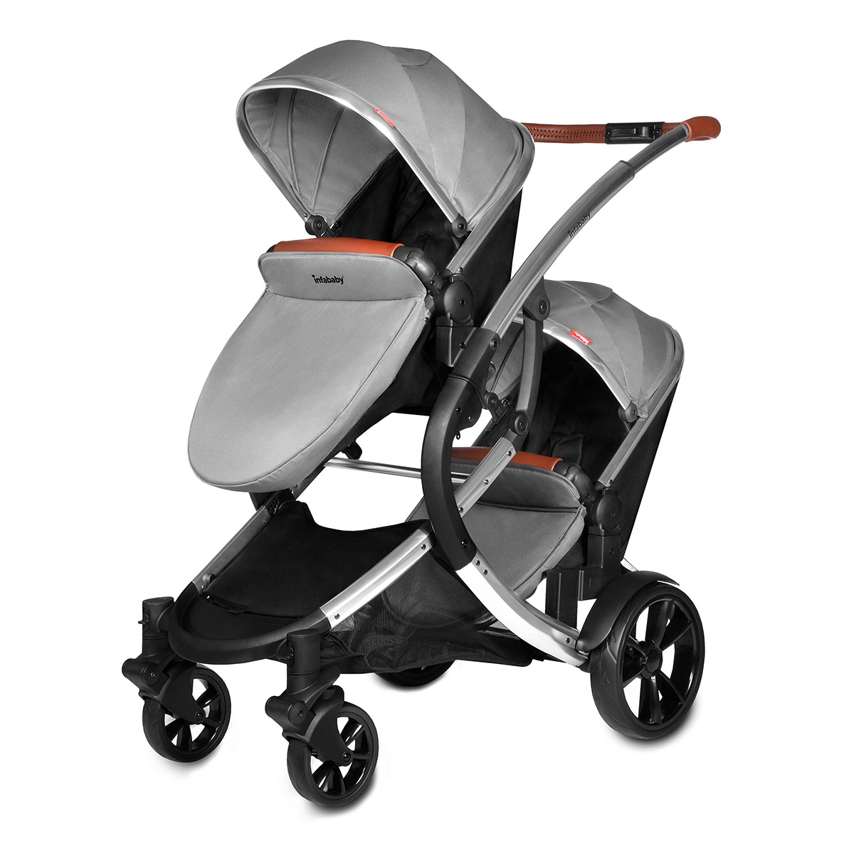 Double Buggy In Sale Infababy Duo Double Buggy Shadow Grey