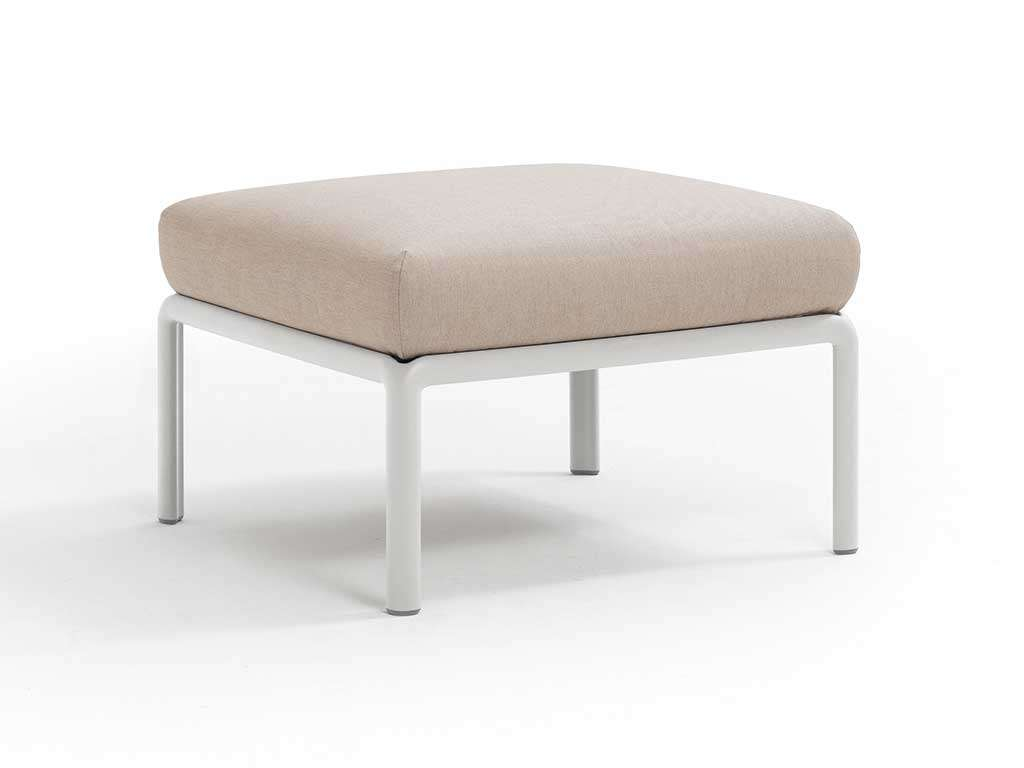 Outdoor Pouf Design White Komodo
