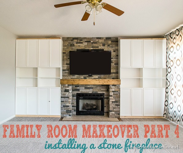 Airstone Lowes Family Room Makeover Part 4: Airstone Fireplace Makeover