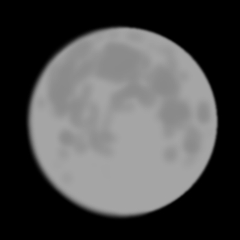 The moon, as seen from my eyeballs